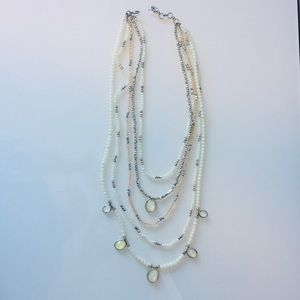 NWOT | Lucky Brand | Bead Necklace & Stone Accents